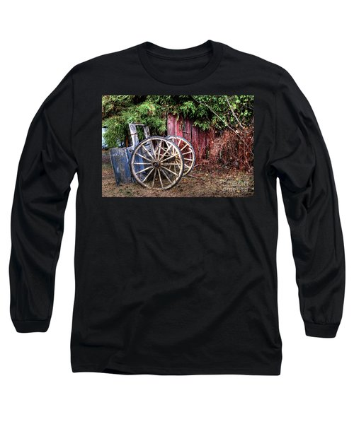 Long Sleeve T-Shirt featuring the photograph Abandoned Cart by Jim and Emily Bush