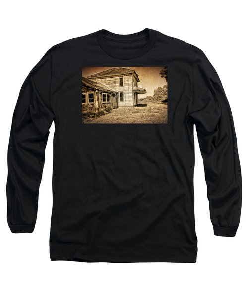 Abandoned House Long Sleeve T-Shirt by Bonnie Bruno