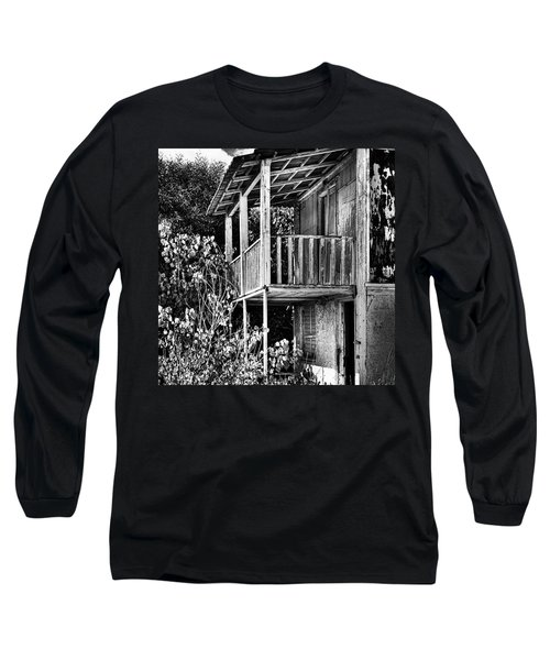 Abandoned, Kalamaki, Zakynthos Long Sleeve T-Shirt by John Edwards