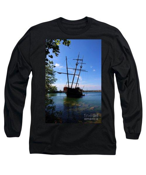 Abandoned Ship Long Sleeve T-Shirt by Al Bourassa
