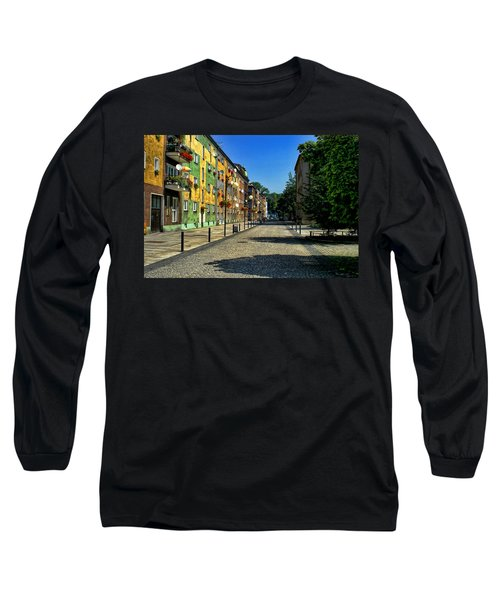 Long Sleeve T-Shirt featuring the photograph Abandoned Street by Mariola Bitner