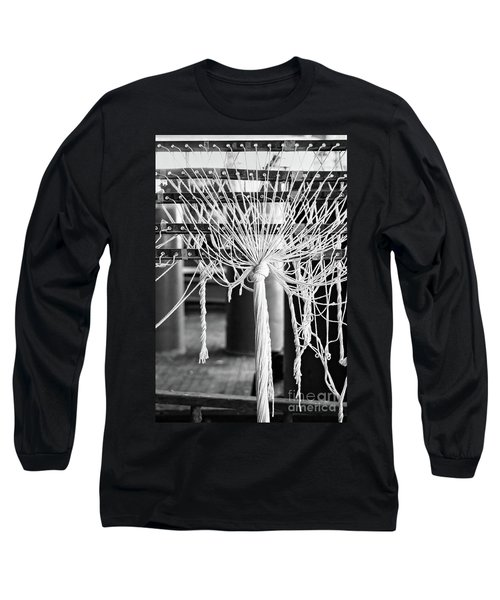 Long Sleeve T-Shirt featuring the photograph Abandoned Textile Mill, Lewiston, Maine  -48692-bw by John Bald