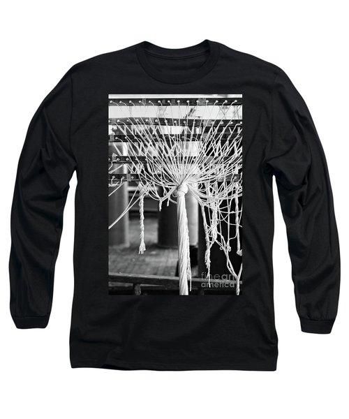 Abandoned Textile Mill, Lewiston, Maine  -48692-bw Long Sleeve T-Shirt by John Bald