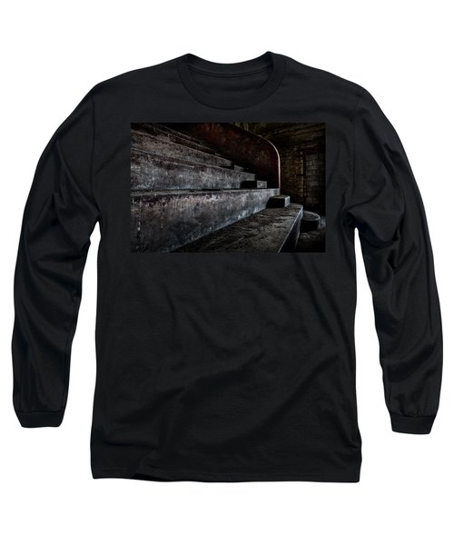 Long Sleeve T-Shirt featuring the photograph Abandoned Theatre Steps - Architectual Heritage by Dirk Ercken