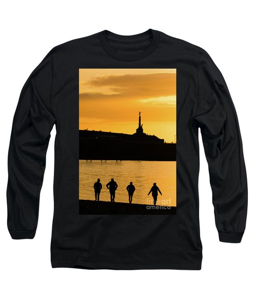 Aberystwyth Sunset Silhouettes Long Sleeve T-Shirt