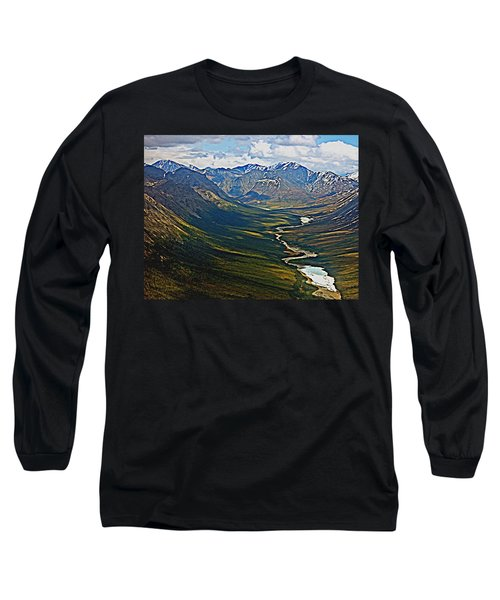 Long Sleeve T-Shirt featuring the painting Above The Arctic Circle by John Haldane