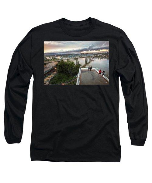 Above The Bluff, Musuem View Long Sleeve T-Shirt by Steven Llorca