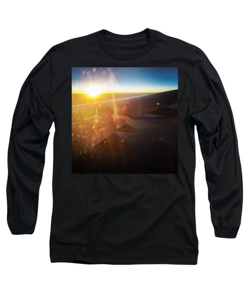 Above The Clouds 03 Warm Sunlight Long Sleeve T-Shirt by Matthias Hauser