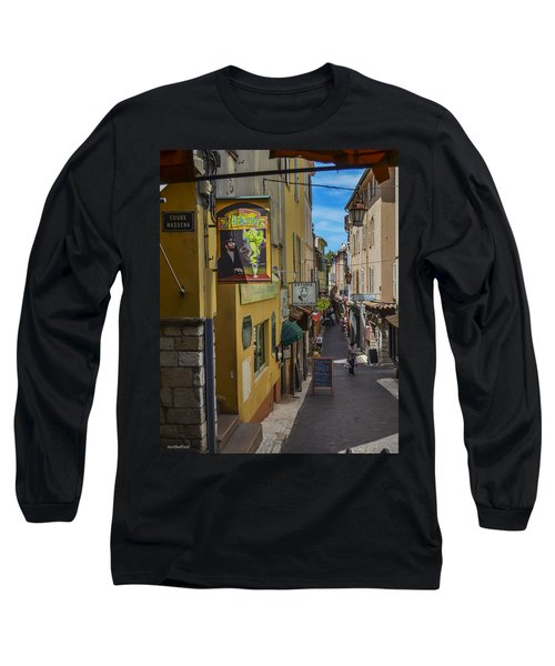 Long Sleeve T-Shirt featuring the photograph Absinthe In Antibes by Allen Sheffield