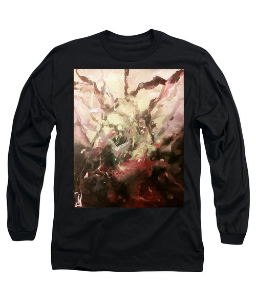 Long Sleeve T-Shirt featuring the painting Abstract #01 by Raymond Doward