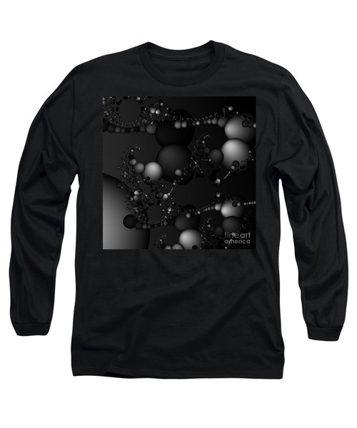 Abstract 119 Bw Long Sleeve T-Shirt