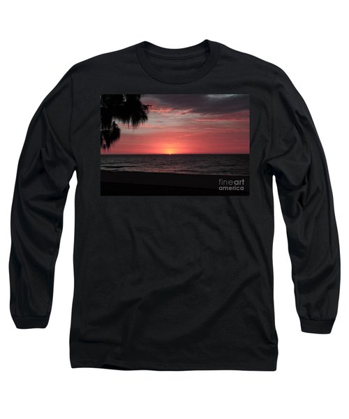 Abstract Beach Palm Tree Sunset Long Sleeve T-Shirt