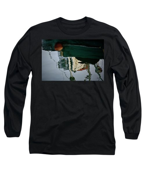 Abstract Boat Reflection II Long Sleeve T-Shirt