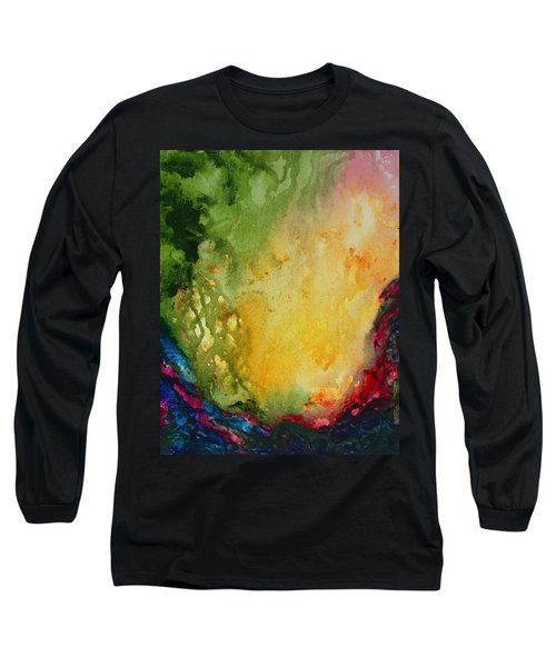 Abstract Color Splash Long Sleeve T-Shirt
