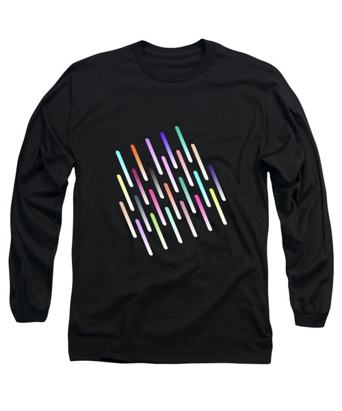 Abstract Cosmic Rain Long Sleeve T-Shirt