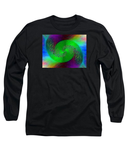 Long Sleeve T-Shirt featuring the digital art Abstract Cubed 378 by Tim Allen