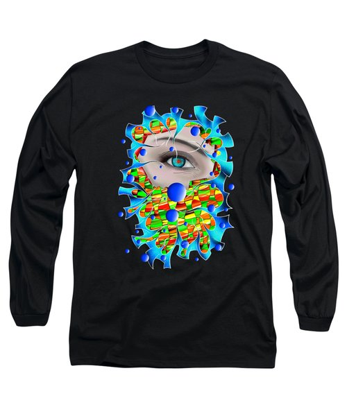 Abstract Digital Art - Delaneo V4 Long Sleeve T-Shirt