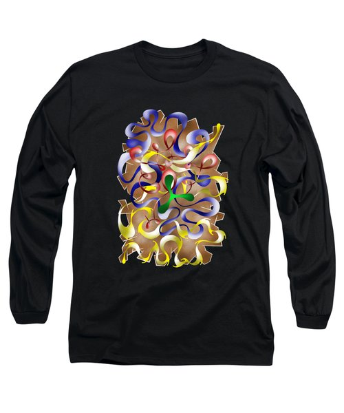 Abstract Digital Art - Jamurina V2 Long Sleeve T-Shirt by Cersatti