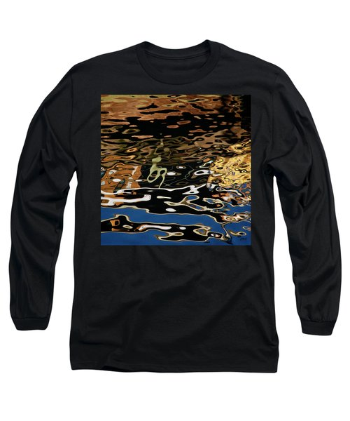 Abstract Dock Reflections II Color Sq Long Sleeve T-Shirt