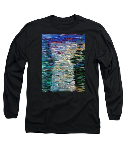 Abstract Latte Stone Long Sleeve T-Shirt