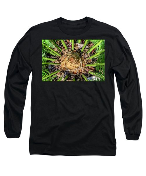 Abstract Nature Tropical Fern 2096 Long Sleeve T-Shirt
