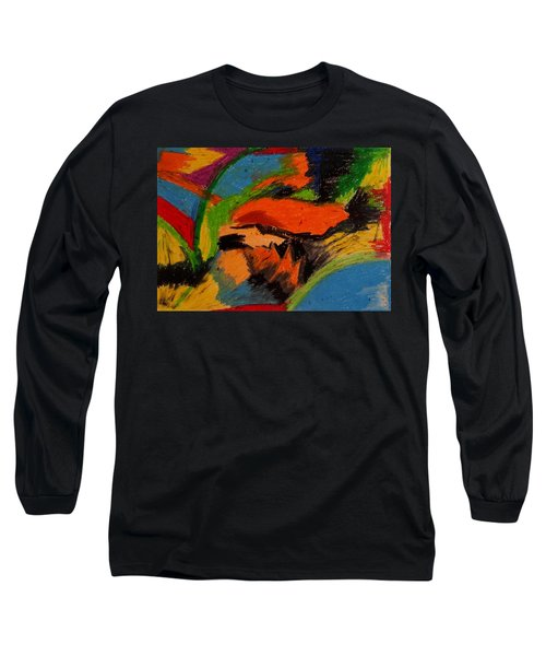 Abstract No. 4 Inner Landscape Long Sleeve T-Shirt by Maria  Disley