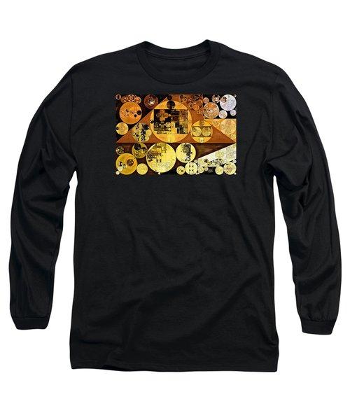 Long Sleeve T-Shirt featuring the digital art Abstract Painting - Mai Tai by Vitaliy Gladkiy