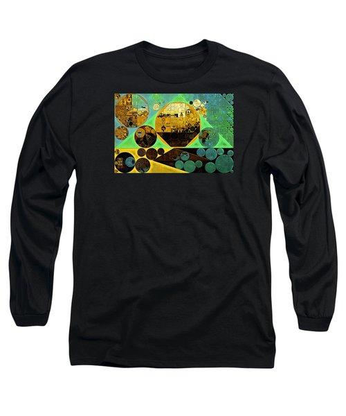 Long Sleeve T-Shirt featuring the digital art Abstract Painting - Ocean Green by Vitaliy Gladkiy