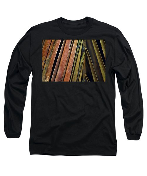 Abstract Palm Frond Long Sleeve T-Shirt