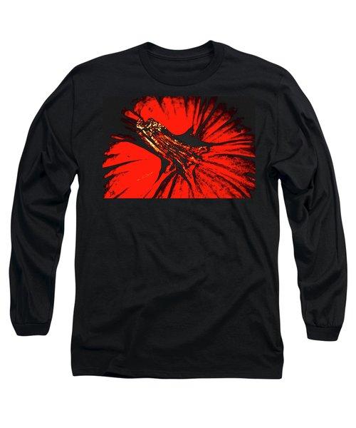 Abstract Pumpkin Stem Long Sleeve T-Shirt