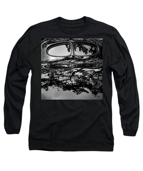 Abstract Reflection Bw Sq II - Vehicle Long Sleeve T-Shirt