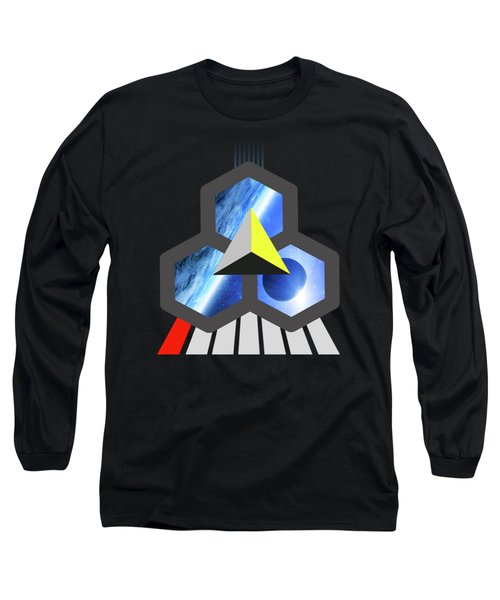 Abstract Space 1 Long Sleeve T-Shirt by Russell K