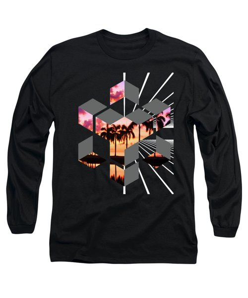 Abstract Space 3 Long Sleeve T-Shirt by Russell K