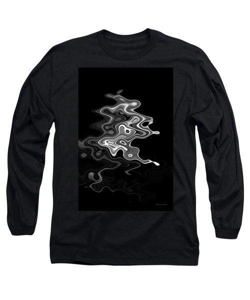 Abstract Swirl Monochrome Long Sleeve T-Shirt