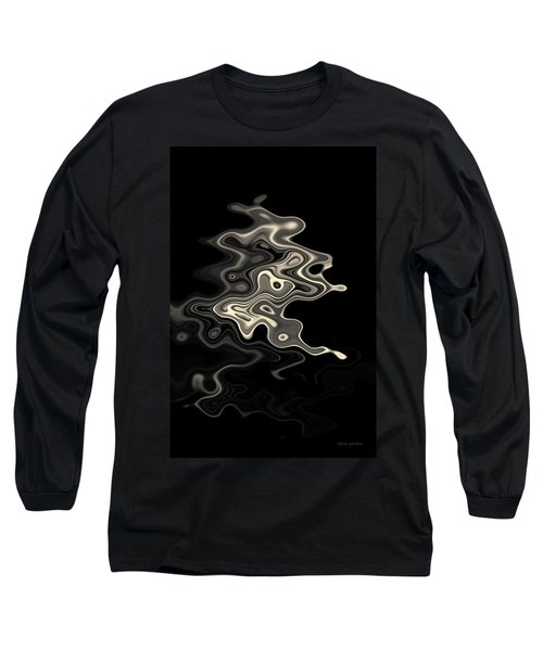 Abstract Swirl Monochrome Toned Long Sleeve T-Shirt