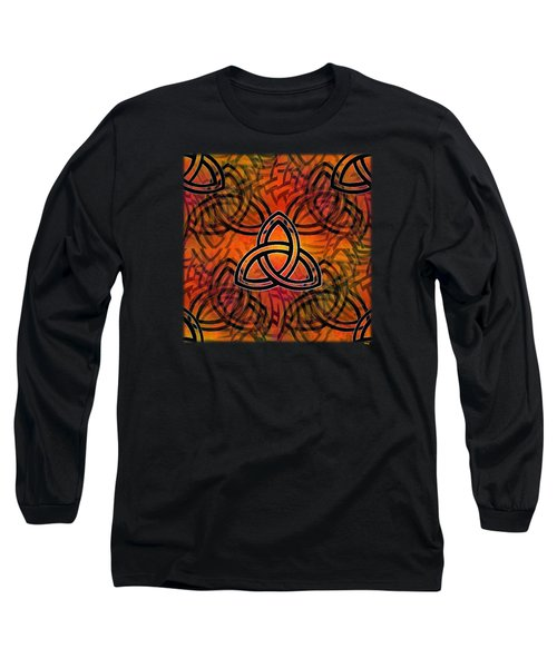 Long Sleeve T-Shirt featuring the digital art Abstract - Trinity by Glenn McCarthy Art and Photography