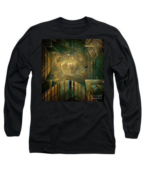 Long Sleeve T-Shirt featuring the painting Abstractus by Alexa Szlavics