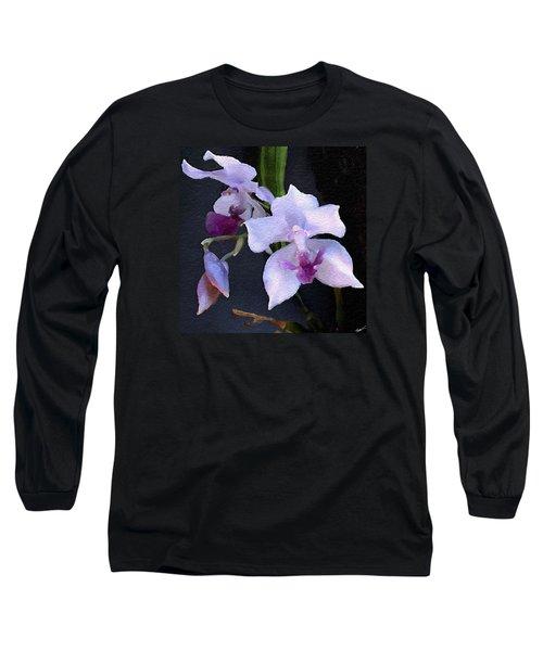 Acacallis Cyanea. Orchid Long Sleeve T-Shirt