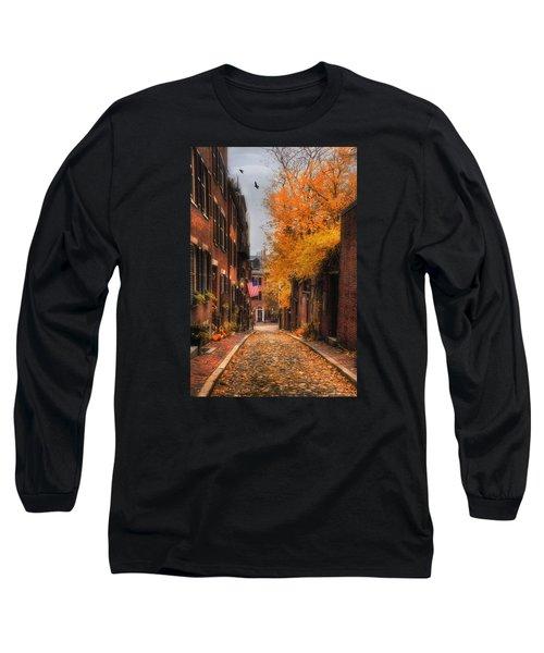 Acorn St. Long Sleeve T-Shirt by Joann Vitali