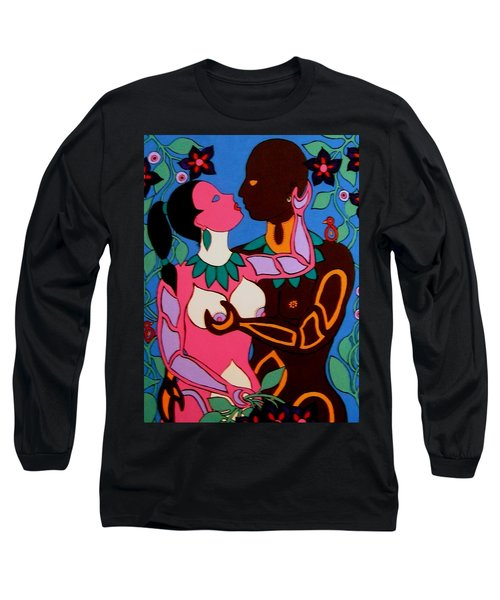 Adam And Eve Long Sleeve T-Shirt by Stephanie Moore
