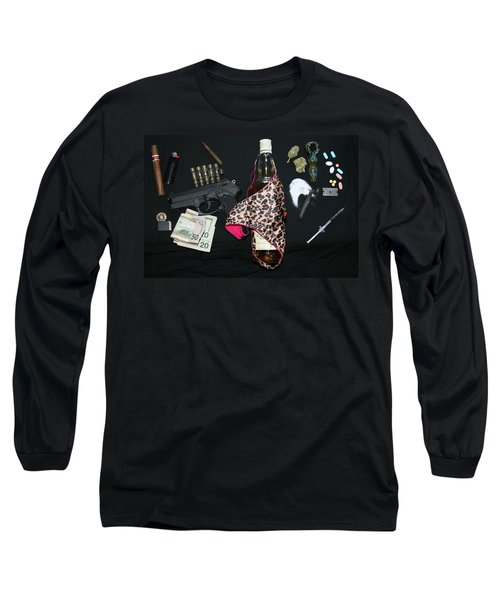 Long Sleeve T-Shirt featuring the photograph Addicted To Death by Paul SEQUENCE Ferguson             sequence dot net