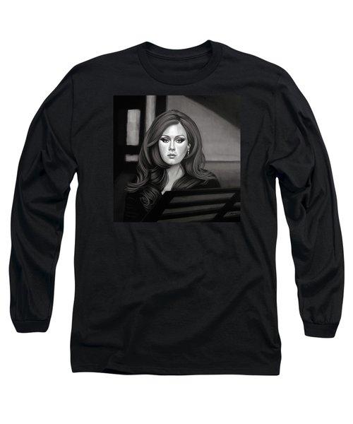 Adele Mixed Media Long Sleeve T-Shirt by Paul Meijering