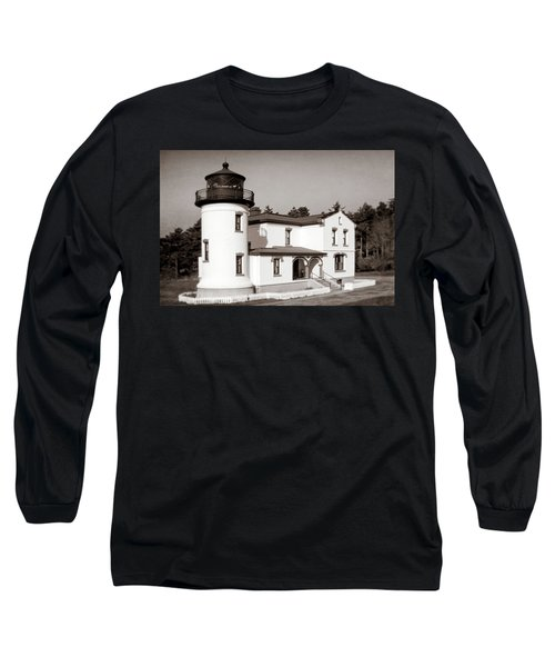 Admiralty Head Lighthouse Vintage Photograph Long Sleeve T-Shirt
