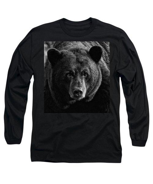 Adult Male Black Bear Long Sleeve T-Shirt