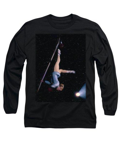 Aerial Acrobat Long Sleeve T-Shirt by Jon Delorme