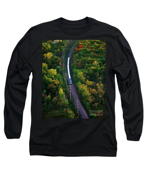 Aerial Of  Commuter Train  Long Sleeve T-Shirt