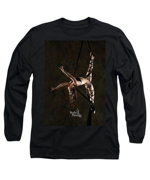 Aerial Splits With Black Silks Long Sleeve T-Shirt