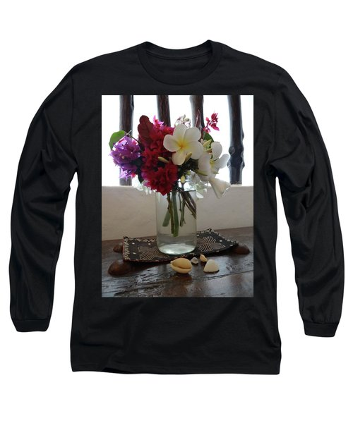 African Flowers And Shells Long Sleeve T-Shirt