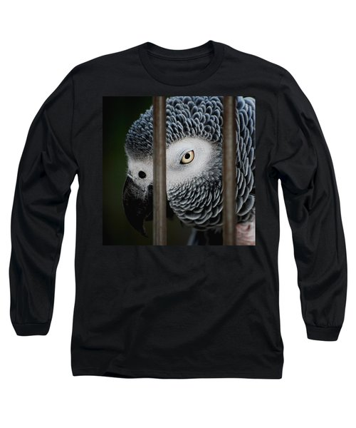 African Grey Long Sleeve T-Shirt