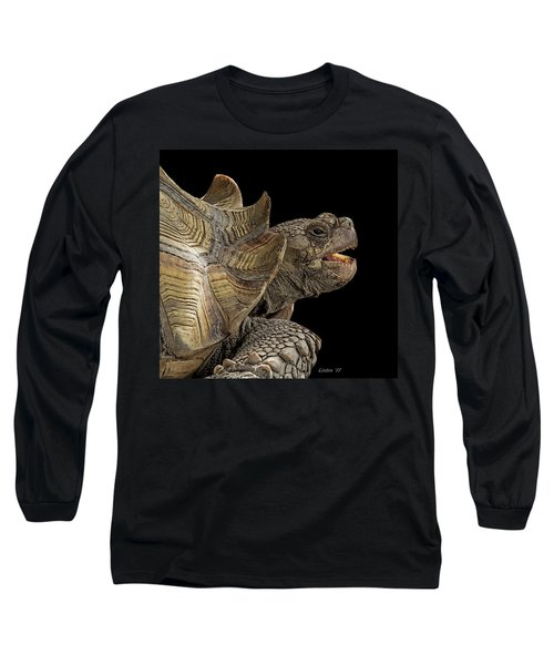 African Spurred Tortoise Long Sleeve T-Shirt